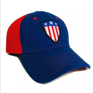 New Era 39Thirty Captain America Fitted Hat L/XL